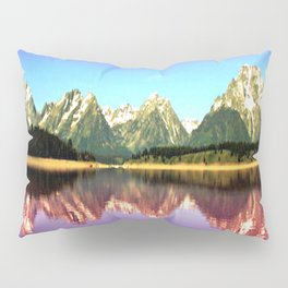Grand Tetons 🌄 Purple Reflection Pillow Sham