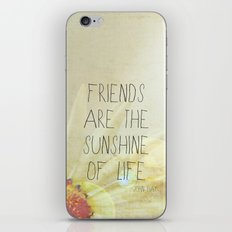 Sunshine & Friendship iPhone & iPod Skin