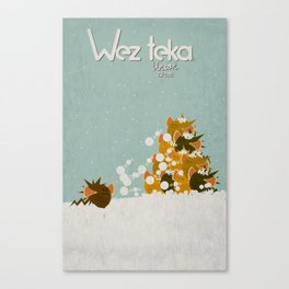 "HELP…. ""Bad Timing…"" Wezteka Union. Canvas Print"