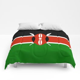 National flag of Kenya - Authentic version, to scale and color Comforters