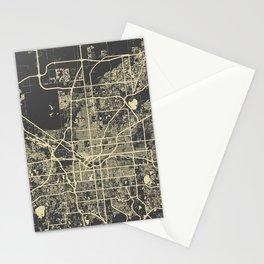 Denver map Stationery Cards