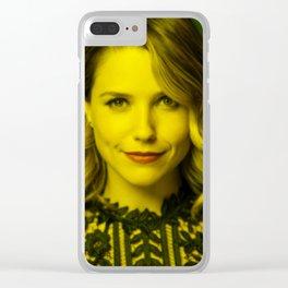 Sophia Bush - Celebrity (Florescent Color Technique) Clear iPhone Case