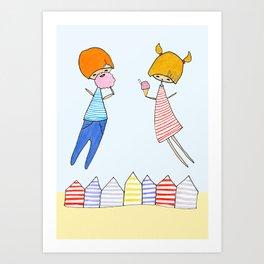 Let's go to the beach! Art Print