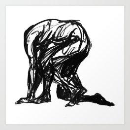 Boceto gestual 3 Art Print