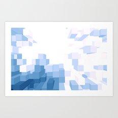 Blue 3D Art Print