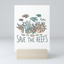 Save the Coral Reefs Mini Art Print