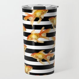 The Golden One II - b&w stripes Travel Mug