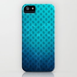 Blue Kraken Ocean Demon Pattern iPhone Case
