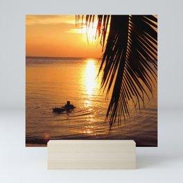 Island sunset relaxation Mini Art Print