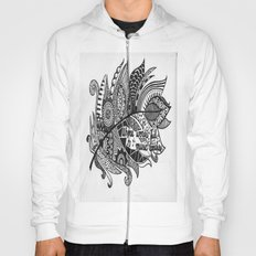 Zentangle Feather Hoody