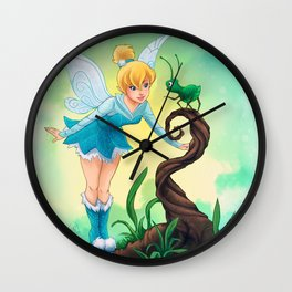 Tinker Bell Blue Wall Clock