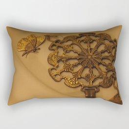 Bronze Butterfly Medallion Rectangular Pillow