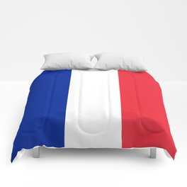 Flag of France, High quality image Comforters