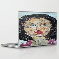 asian Laptop & iPad Skins featuring ANGRY ASIAN  by JANUARY FROST