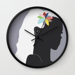 Caribbean colors Wall Clock