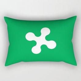 flag of lombardy Rectangular Pillow