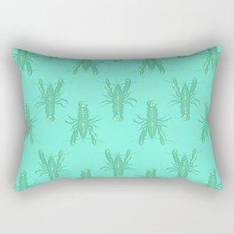 Green Lobster Rectangular Pillow