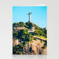 christ Stationery Cards featuring Christ Redeemer by Edgard Mello