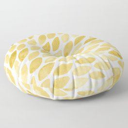 Watercolor brush strokes burst - yellow Floor Pillow