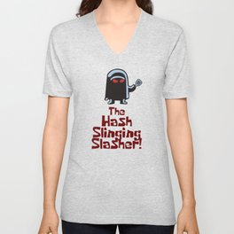 The Hash Slinging Slasher Unisex V-Neck