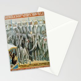 Vintage poster - Performing Elephants Stationery Cards