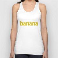 banana Tank Tops featuring Banana by Imagonarium