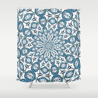 snowflake Shower Curtains featuring Snowflake by Stay Inspired