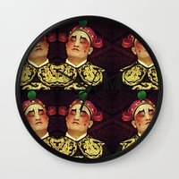 actor Wall Clocks featuring Chinese Opera Actor. by Ian Gledhill