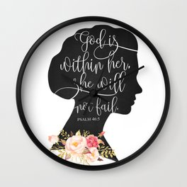 God with Within Her Wall Clock