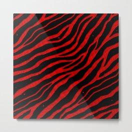 Ripped SpaceTime Stripes - Red Metal Print