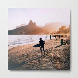 Rio de Janeiro (AquaChara) Metal Print