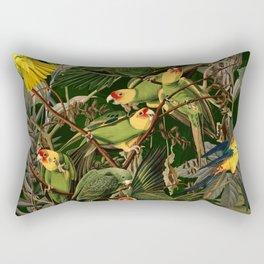 Floral and Birds XXXVI Rectangular Pillow