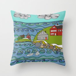 View from Casco Bay Throw Pillow