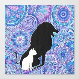 The lion's strength ! Canvas Print