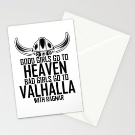 Good Girls Go To Heaven Bad To Valhalla Stationery Cards