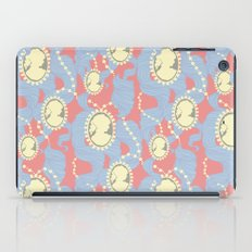 Cameo & Trailing Hair // Blue & Apricot pastels. iPad Case