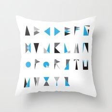 geo type Throw Pillow