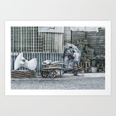 Marble Sculptor in Italy Art Print