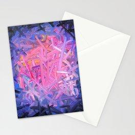 Pinkish Swipes Stationery Cards