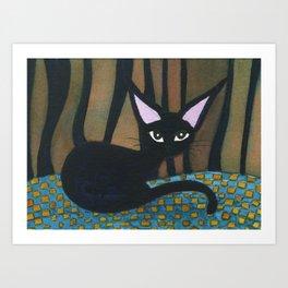 Corpus Christi Whimsical Cat Art Print