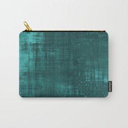 Teal Green Solid Abstract Carry-All Pouch