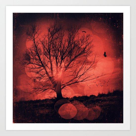 mars tree Art Print