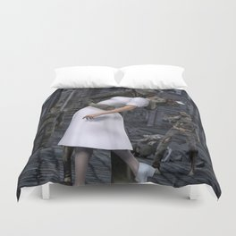 Zombies Kiss  Duvet Cover