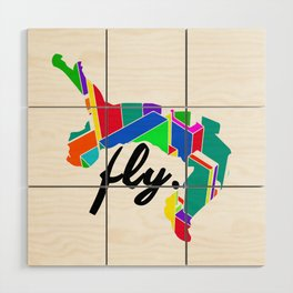 Fly Parkour Wood Wall Art