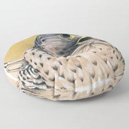 Peregrine Falcon Ink Art Floor Pillow