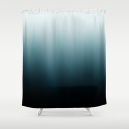 Ombre black Teal Green Gradient Shower Curtain