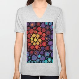 Soul Star Colorful Rainbow Colors Mosaic Art Unisex V-Neck