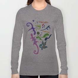 My pieces of invisible worlds Long Sleeve T-shirt