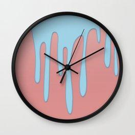 Blue Drip Wall Clock