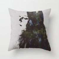grace Throw Pillows featuring Grace by  Maʁϟ